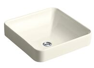 VOX® SQUARE VESSEL BATHROOM SINK, Biscuit, medium