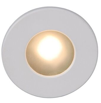 LEDme® FULL ROUND STEP AND WALL LIGHT, White, large