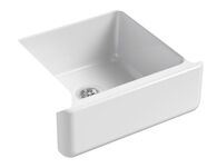 WHITEHAVEN® SELF-TRIMMING® 23-1/2 X 21-9/16 X 9-5/8 INCHES UNDER-MOUNT SINGLE-BOWL SINK WITH TALL APRON, White, medium