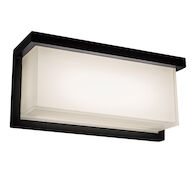 LEDGE 12-INCH 3000K LED WALL SCONCE LIGHT, WS-W1412, Black, medium