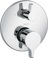S/E THERMOSTATIC TRIM WITH VOLUME CONTROL AND DIVERTER, Chrome, medium