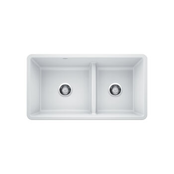 PRECIS UNDERMOUNT 1.75 LOW DIVIDE SINK, White, large