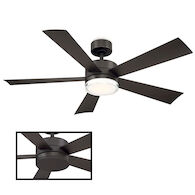 WYND 52-INCH 3000K LED CEILING FAN, Bronze, medium