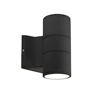 LUND 7-INCH LED OUTDOOR WALL SCONCE LIGHT, Black, medium