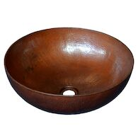 MAESTRO ROUND 16-INCH VESSEL BATHROOM SINK, CPS63, Antique Copper, medium