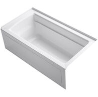 ARCHER® 60 X 32 INCHES ALCOVE BATHTUB WITH INTEGRAL APRON AND INTEGRAL FLANGE, RIGHT-HAND DRAIN, White, medium