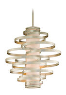 VERTIGO 4-LIGHT PENDANT, Modern Silver Leaf, medium