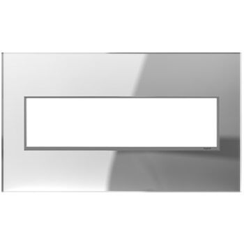 ADORNE 4-GANG REAL MATERIAL WALL PLATE, Mirror White, large