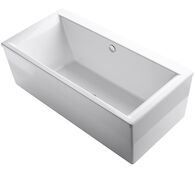 STARGAZE® 72 X 36 INCHES FREESTANDING BATHTUB WITH STRAIGHT SHROUD AND CENTER DRAIN, White, medium