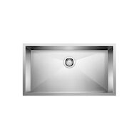 QUATRUS UNDERMOUNT SUPER SINGLE KITCHEN SINK, Stainless Steel, medium