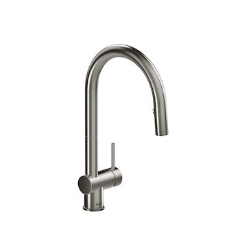 AZURE KITCHEN FAUCET WITH 2-JET BOOMERANG HAND SPRAY SYSTEM, Stainless Steel, large