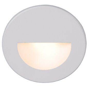LEDme® ROUND STEP AND WALL LIGHT, White, large