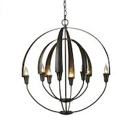 DOUBLE CIRQUE CHANDELIER, Dark Smoke, medium