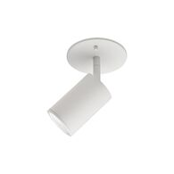 BARCLAY 1-LIGHT FLUSH MOUNT, White, medium