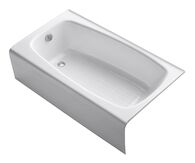 SEAFORTH™ 54 X 31 INCHES ALCOVE BATHTUB WITH LEFT-HAND DRAIN, White, medium