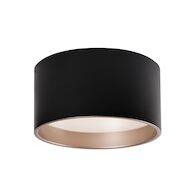 MOUSINNI 14-INCH LED FLUSH MOUNT LIGHT, Black, medium