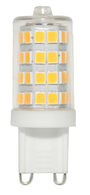 LED LIGHT BULB CLEAR 4W 120V 3000K E12 G9, , medium