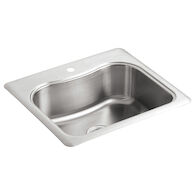 STACCATO™ 25 X 22 X 8-5/16 INCHES TOP-MOUNT SINGLE-BOWL KITCHEN SINK WITH SINGLE FAUCET HOLE, Stainless Steel, medium
