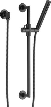 JASON WU SLIDE BAR HAND SHOWER WITH H2OKINETIC® TECHNOLOGY, Matte Black, large