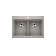 DIAMOND 210 SILGRANIT DROP-IN KITCHEN SINK, Concrete Grey, medium