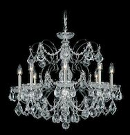 CENTURY 8-LIGHT CHANDELIER, Aurelia, medium