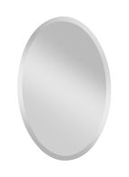 INFINITY OVAL MIRROR 24x36-INCH, Silver, medium