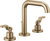 LITZE WIDESPREAD LAVATORY FAUCET 4-INCH LESS HANDLES, Brilliance Luxe Gold, medium