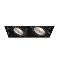 2-LIGHT GU10 TRIMLESS MULTIPLE RECESS, TE212GU10, Black, medium