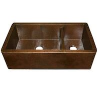 FARMHOUSE DUET PRO DOUBLE BOWL KITCHEN SINK, Antique Copper, medium