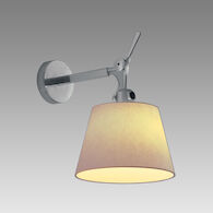 TOLOMEO WALL LAMP WITH 12-INCH SHADE, Aluminum/Parchment, medium