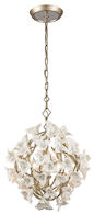 LILY 4-LIGHT PENDANT, Enchanted Silver Leaf, medium