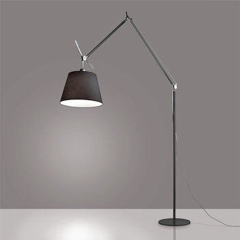 TOLOMEO MEGA FLOOR LAMP WITH 17-INCH DIFFUSER, Black, large