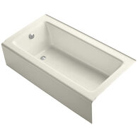 BELLWETHER® 60 X 32 INCHES ALCOVE BATHTUB WITH INTEGRAL APRON AND LEFT-HAND DRAIN, Biscuit, medium