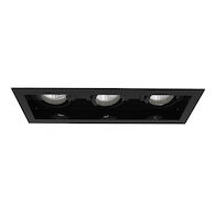 AMIGO 3-LIGHT 3000K LED RECESSED LIGHT, 31766-30, Black, medium