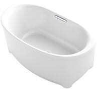 UNDERSCORE® OVAL 60 X 36 INCHES FREESTANDING BATHTUB, White, medium