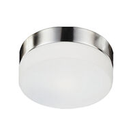 LOMITA 2-LIGHT ROUND FLUSH MOUNT CEILING LIGHT, Brushed Nickel, medium