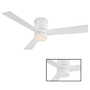 AXIS 52-INCH 3000K LED FLUSH MOUNT CEILING FAN, Matte White, small