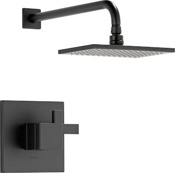 SIDERNA TEMPASSURE THERMOSTATIC SHOWER ONLY TRIM, Matte Black, large