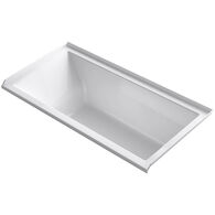 UNDERSCORE® RECTANGLE 60 X 30 INCHES ALCOVE BATHTUB WITH INTEGRAL FLANGE ND RIGHT-HAND DRAIN, White, medium