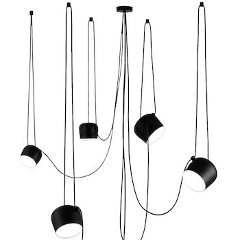 AIM LED PENDANT LIGHT (SET OF 5 WITH MULTICANOPY) BY RONAN AND ERWAN BOUROULLEC, Black, large