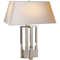 ALEXA HAMPTON INGRID 31-INCH TABLE LAMP WITH NATURAL PAPER SHADE, Polished Nickel, medium