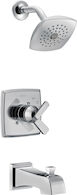 ASHLYN MONITOR 17 SERIES TUB AND SHOWER TRIM, Chrome, medium
