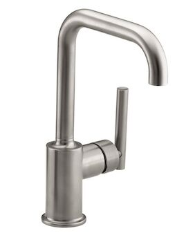 PURIST® SINGLE-HOLE KITCHEN SINK FAUCET WITH 6-INCH SPOUT, Vibrant Stainless, large