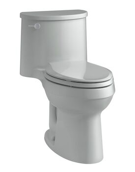 ADAIR® COMFORT HEIGHT® ONE-PIECE ELONGATED 1.28 GPF TOILET WITH AQUAPISTON® FLUSHING TECHNOLOGY, Ice Grey, large