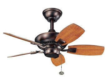 CANFIELD 30-INCH FAN, Oil Brushed Bronze, large