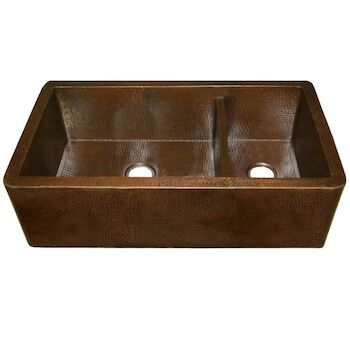 FARMHOUSE DUET PRO DOUBLE BOWL KITCHEN SINK, Antique Copper, large