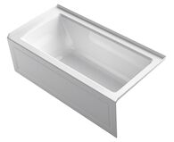 ARCHER® 60 X 30 INCHES ALCOVE BATHTUB WITH INTEGRAL APRON AND INTEGRAL FLANGE, RIGHT-HAND DRAIN, White, medium