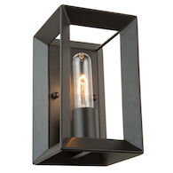 VINEYARD 1-LIGHT WALL SCONCE, Matte Black, medium
