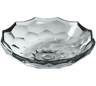 BRIOLETTE™ VESSEL FACETED GLASS BATHROOM SINK, Ice, medium