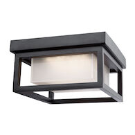OVERBROOK 3000K LED OUTDOOR CEILING LIGHT, Black, medium